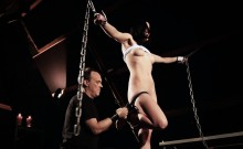 Bondage the slut and punish her hard!