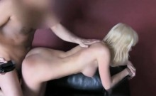 Hot blondie with long hair having coitus