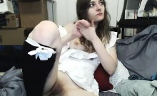 My Sister Playing With her Ass and Pussy on Webcam