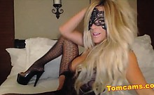 sexy lingerie hot blonde homemade
