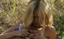 Lovely honey shoves her wicked fingers into vagina
