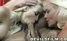 Gorgeous Blondes Enjoy Sucking Cock &Getting Fcked LIke Hoes