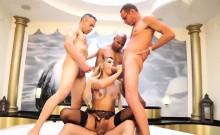 Horny shemale Bianca Hills wants few cocks inside her anus