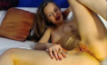 Young blonde milf in webcam show