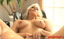 Big boobs ho Holly Heart double pounded by big black