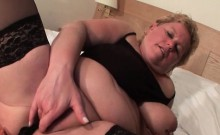 Nasty mature sucks dick and swallows cum
