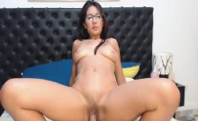 Gorgeous Nerd Swallow her BF Cock Before Getting Fucked