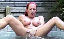 Big titted redhead mature masturbating