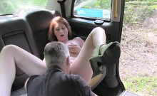 Pretty girl offered BJ and sex to pay damage to the cab
