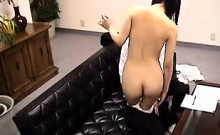 Cute Asian schoolgirl gets felt up and toyed, then blows he
