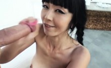 Cute asian GF Marica Hase anal try out while being filmed