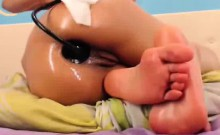 Hot Webcam Latina Stretching Her Asshole