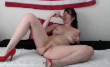Busty Webcam Milf Rides Her Dildo