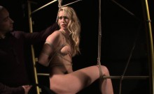 Tied submissive assfucked by maledom