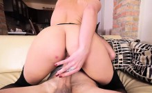 Amazing brunette babe gets pussy banged doggystyle