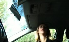 Hooker that is adorable gives blowjob inside the vehicle