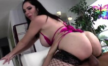 Big boobed whore pegging her man and riding his big dick