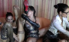 Intense Lesbian Orgy Featuring Luscious Lassies