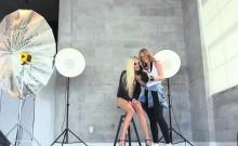 Lesbian Photographer Fingering Girlfriend