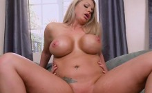 Blonde Hoe Brooklyn Chase Gets Nailed And Jizzed On