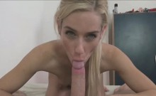 Petite Tiny Blonde Enjoys My Big Cock