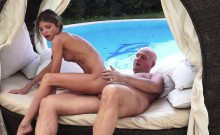 Beautiful Teen Fucked By Grandpa Outdoors