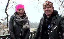 European public beauty gets vibrator in truck
