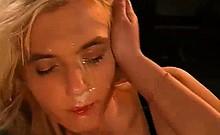 Blonde Lesbian Bukkake Sperm Eating