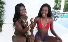 Kay and Destinee sharing white dong in threesome