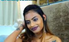 Hot Desi Webcam Slut Gets Oiled Up