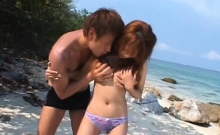 Outdoors Scenery With Irresistable Playgirl Jerks A Lad Off