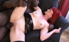 Mature Redhead Challenges A Black Schlong