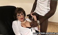 Interracial Naughty Mature British Babe