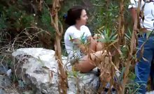 The horny outdoor quickie with the teen girlfriend