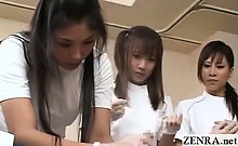 Subtitled CFNM Japanese penis health clinic seminar