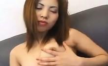 Japanese Slut Sucking On Cock