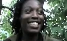 Black Blowjob Outdoors