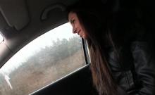 Cute Gina rides the strangers big prick