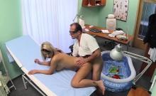 Doctor fucks sexy busty blonde