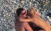 Spying beach sex my friends Arthur and Julia