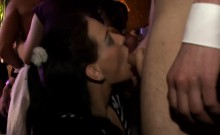 Group sex patty at night club jocks and pusses each where
