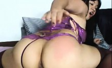 Dirty Asian Whore Rides Her Dildo