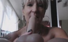 Horny British Milf Pounds Her Holes