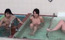 Fuzzy asian pee in public