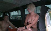 Amateur blonde hottie sucking hard dick in the bus