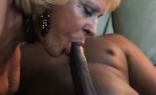 Bright Blonde Granny Distributed To Youthful Black Man