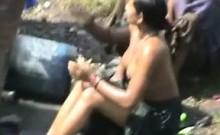 Bangla desi Village Open Bath