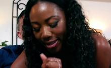 Ebony Wife Chanell Heart Sucks And Rides Neighbor