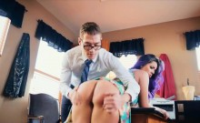 Sex addict gets alternative therapy into her tight asshole
