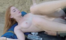 Border agent fucking ginger slut with small tits outdoor